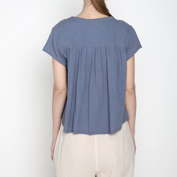 Pleated Button Down - SS19 - Powder Blue
