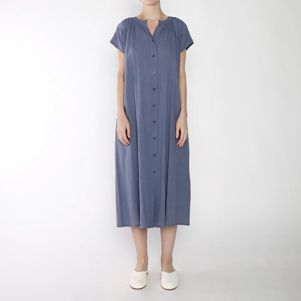 Pleated Button Down Maxi - SS19 - Powder Blue