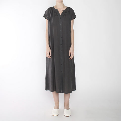 Pleated Button Down Maxi - SS19 - Gray