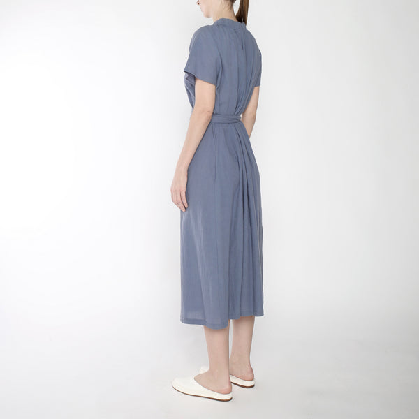 Ruched Neck Maxi - SS19 - Powder Blue