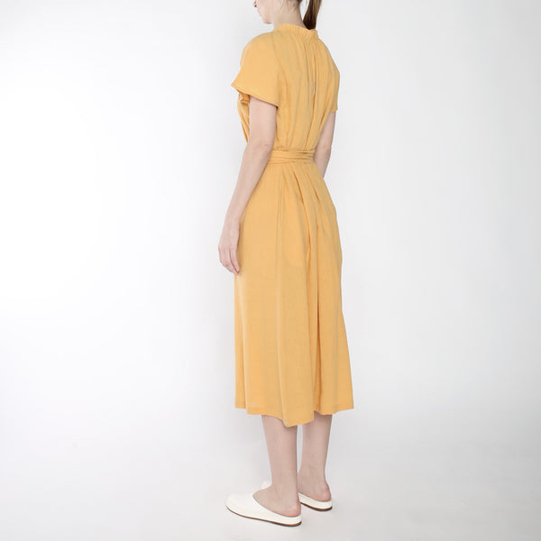 Ruched Neck Maxi - SS19 - Golden Yellow