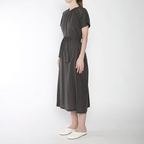 Ruched Neck Maxi - SS19 - Gray