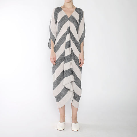 Stripe 4-Way Dress - SS19 - Black Stripe