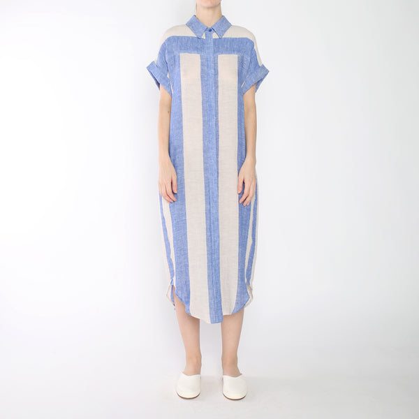 Stripe Maxi Shirtdress - SS19 - Blue Stripe