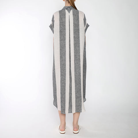 Stripe Maxi Shirtdress - SS19 - Black Stripe