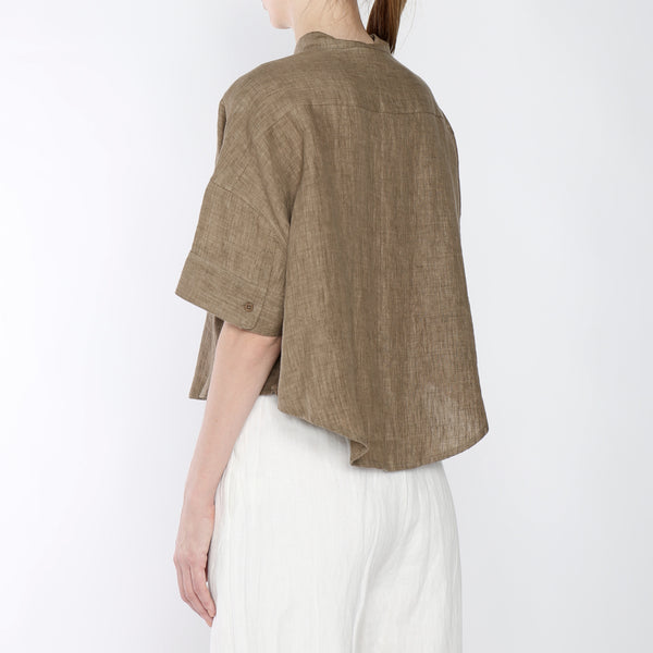 Signature Linen Pocket Cropped Top - Color Options
