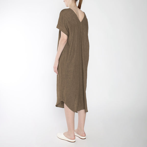 Signature Linen T-Shirt Reversible Maxi - Ash Brown