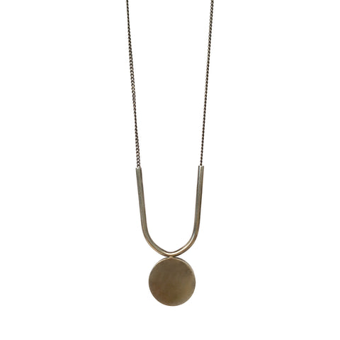 U + Round Disc Necklace - BSC