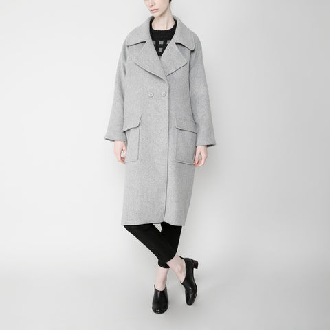 Long Wool Coat - Gray FW16