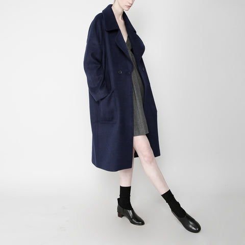 Long Wool Coat - Navy FW16
