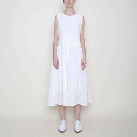 Linen Jumper Dress - Off-White - SS18