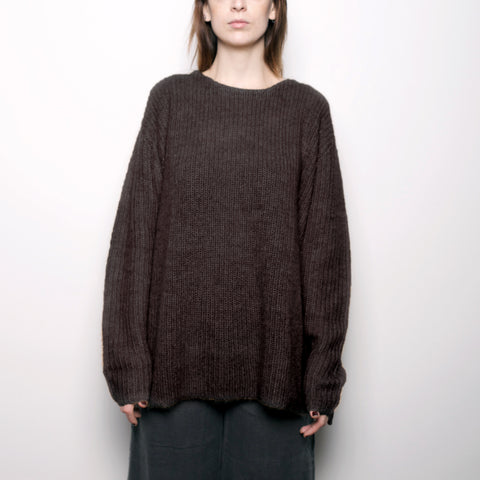Mohair Pullover Sweater - Molasses FW16