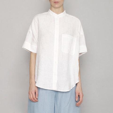 Linen Pocket Shirt - Off-White - SS17