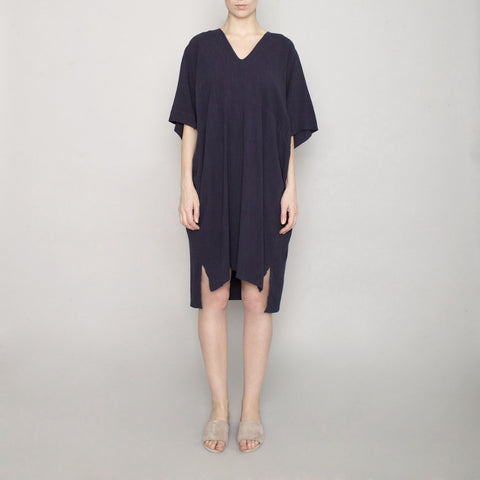 V-Neck Dolman Dress - Navy - SS17