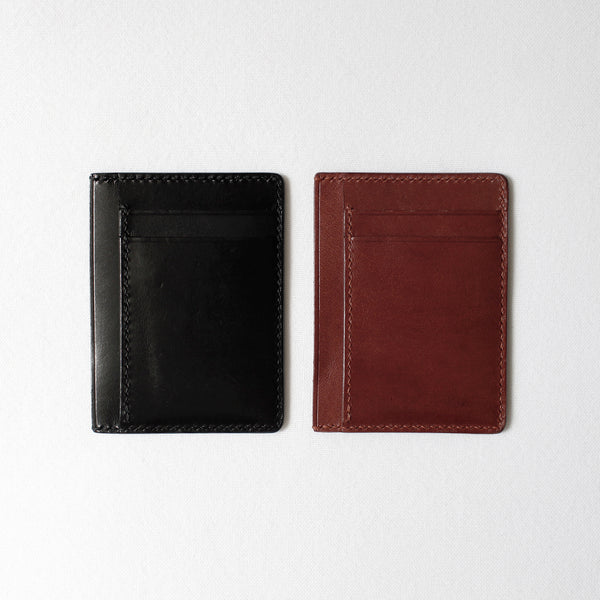 7115 Leather Card Case - Black/Brown