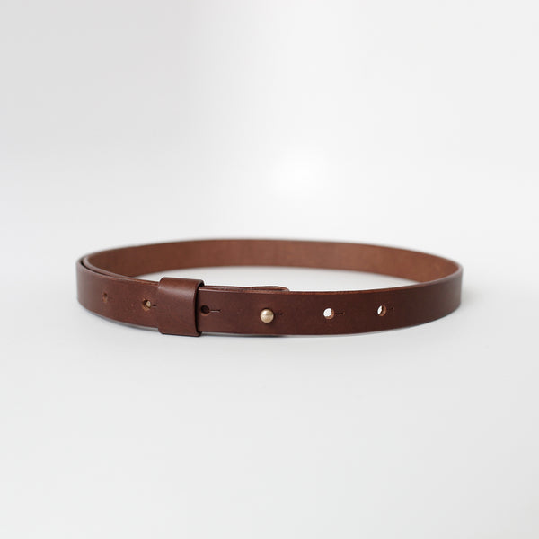 7115 Leather Buckle-less Belt - Black/Brown
