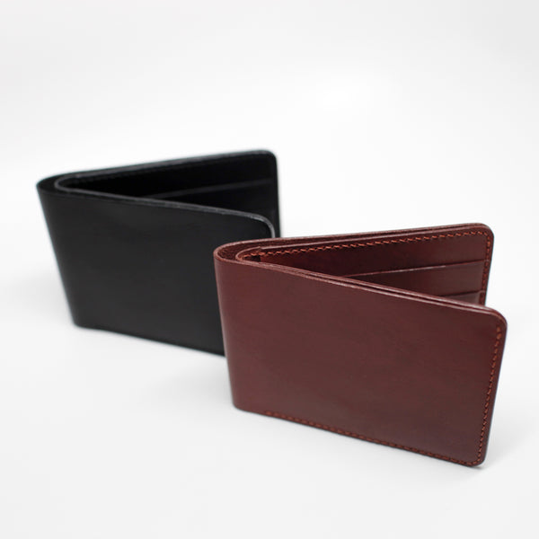 7115 Leather Billfold Wallet - Black