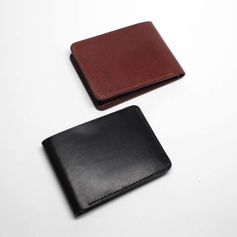 7115 Leather Billfold Wallet - Black/Brown