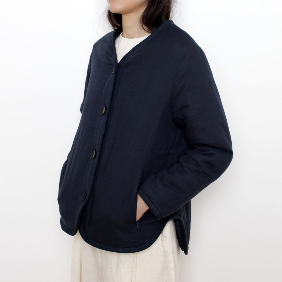 Quilted Short Jacket - SS21 - Navy