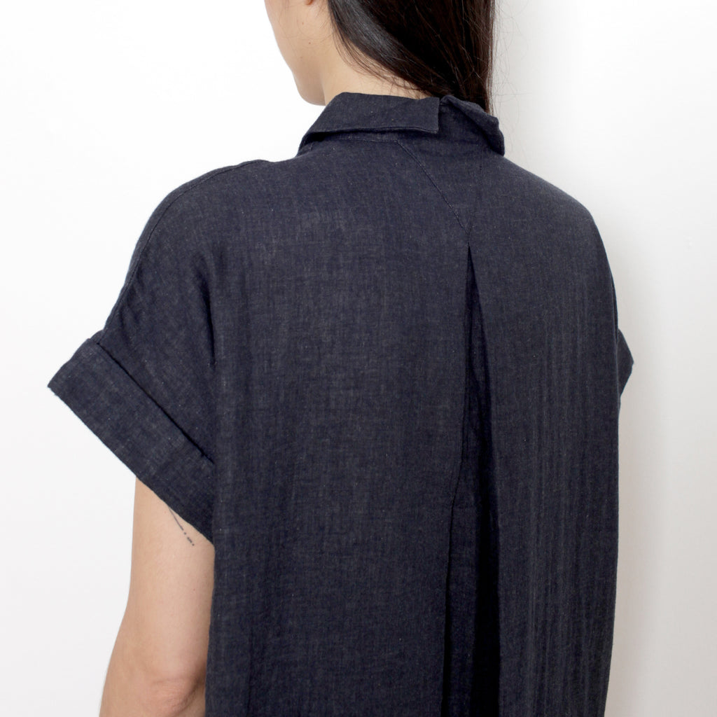 Signature Cotton Shirt Maxi - Navy