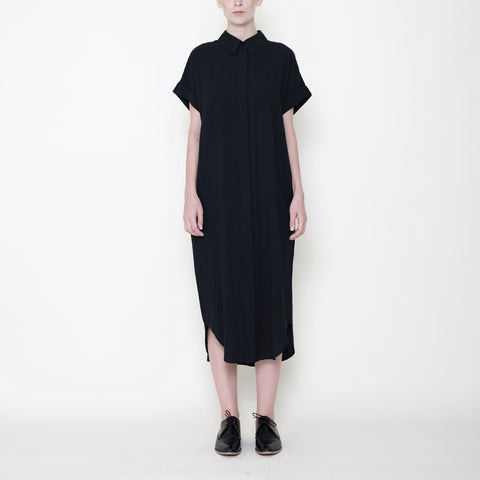 Signature Maxi Shirtdress - Black