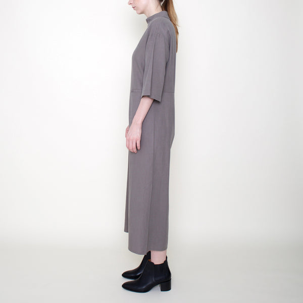 Mock-Neck Jumpsuit - Concrete - FW18