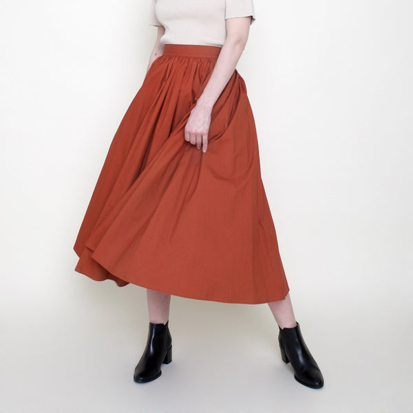 Prairie Skirt - Burnt Sienna - FW18
