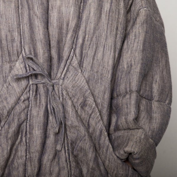 Quilted Linen Jacket - Charcoal - SS17
