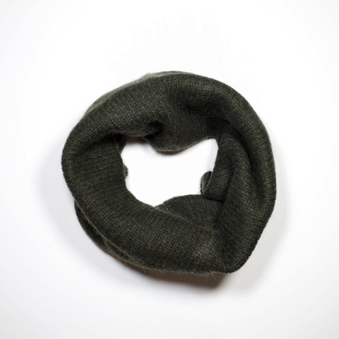 Double Sided Infinity Scarf - Moss/Oatmeal - Holiday17