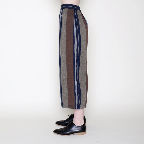 Cropped Wide-Legged Spring Trouser - Stripes - SS18