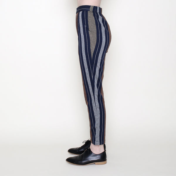 Relaxed Tapering Trouser - Stripes - SS18