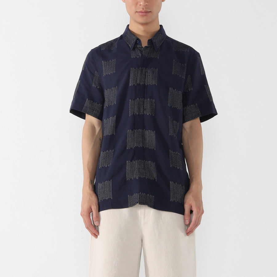 Short Sleeves Side Pocket Shirt - Square - Unisex