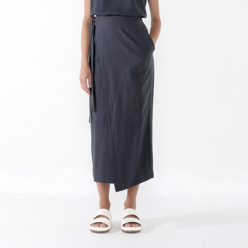 Ainsley Wrap Skirt - SS20 - Navy