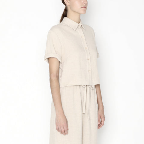 Cropped Button Down - SS20 - Oatmeal