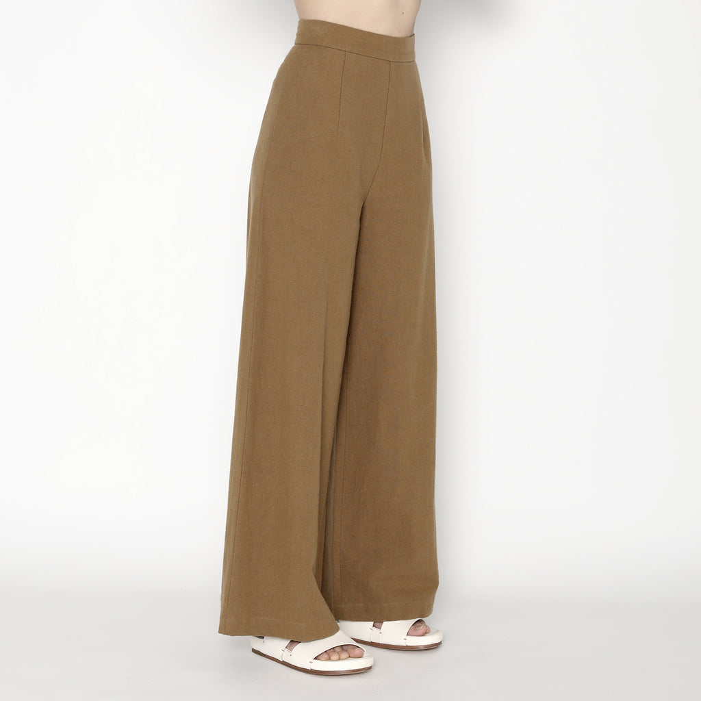 Wide-Legged Trouser - SS20 - Caramel