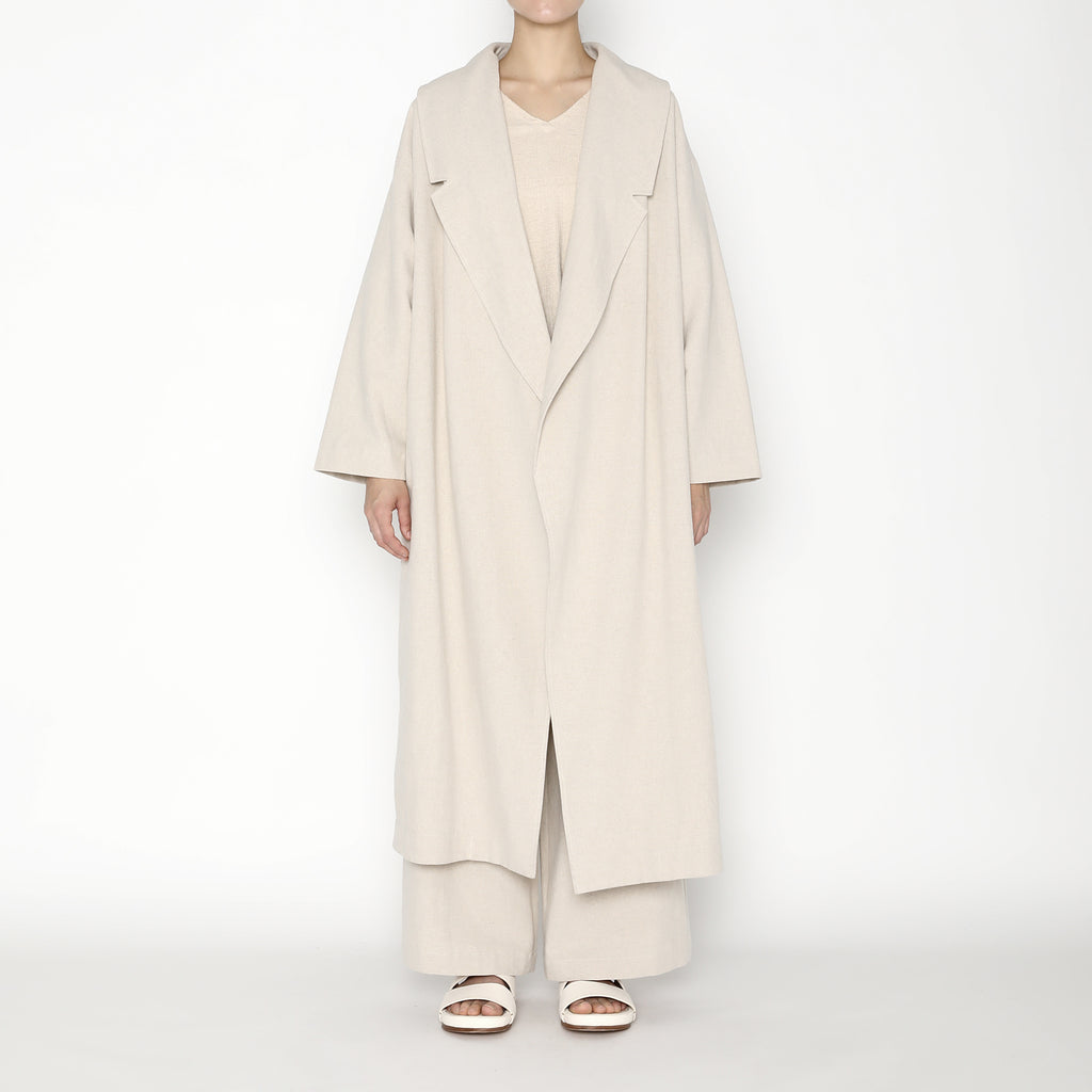 Spring Lapel Overcoat - SS20 - Oatmeal