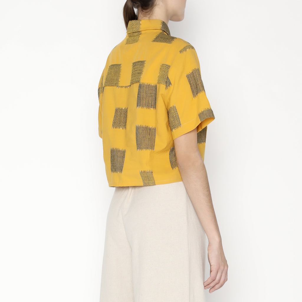 Cropped Button Down - Square - SS20 - Canary