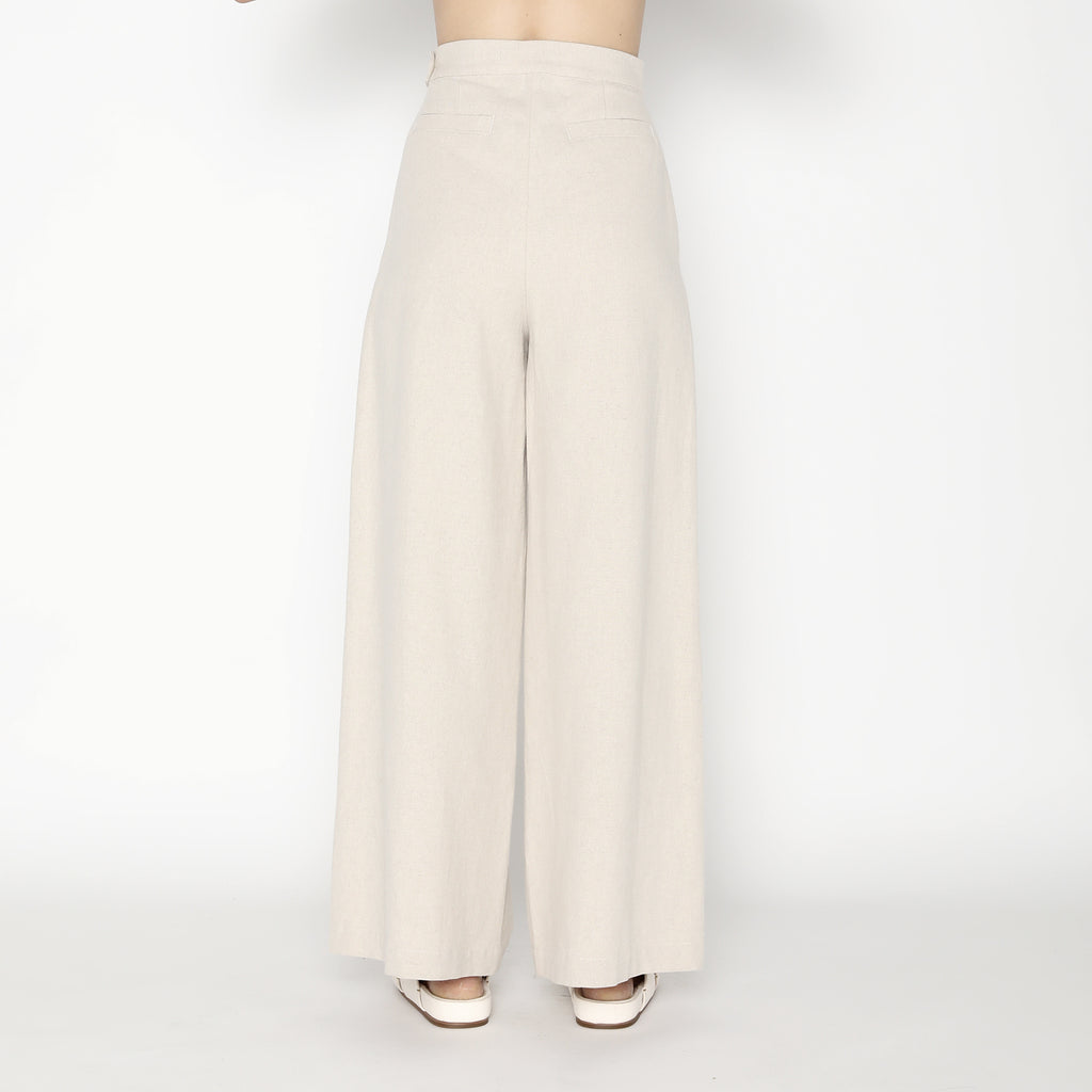 Wide-Legged Trouser - SS20 - Oatmeal
