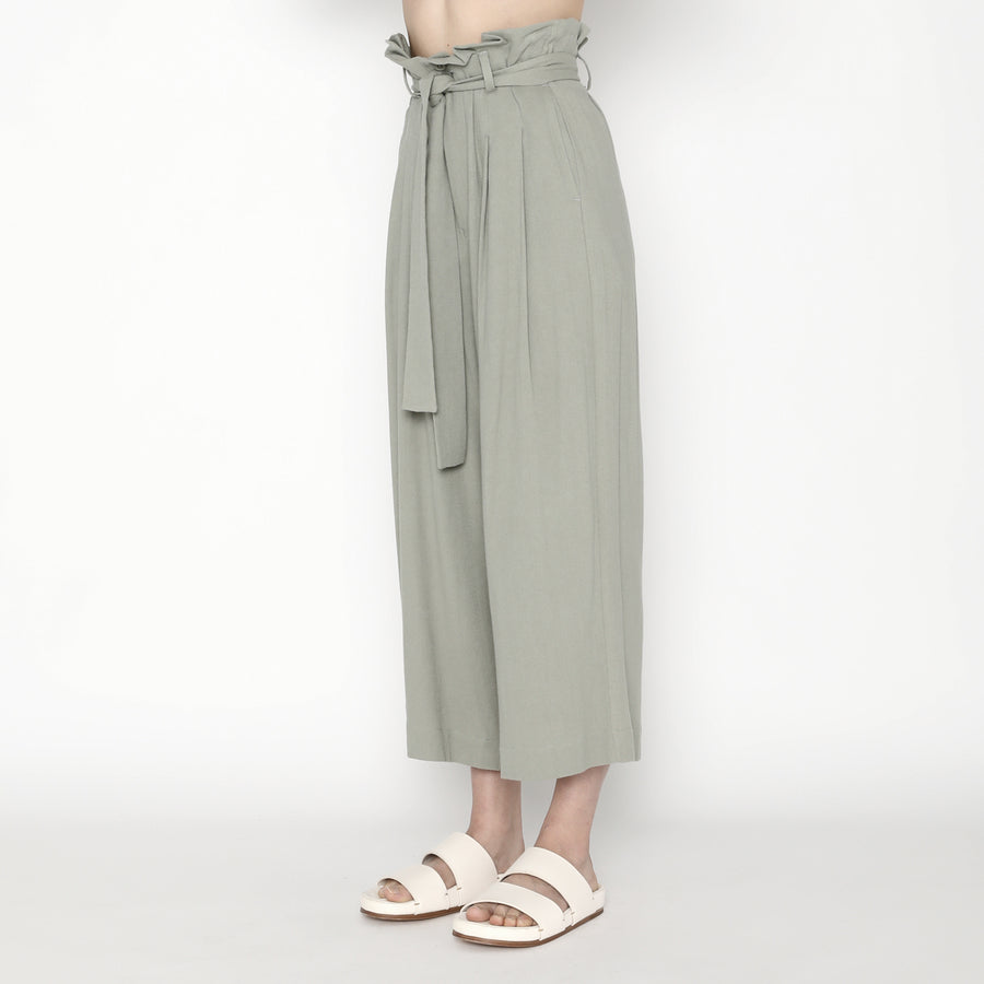 Pleated Trouser - SS20 - Teal Gray