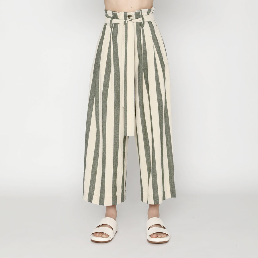 Pleated Trouser - Stripe - SS20 - Light Stripe