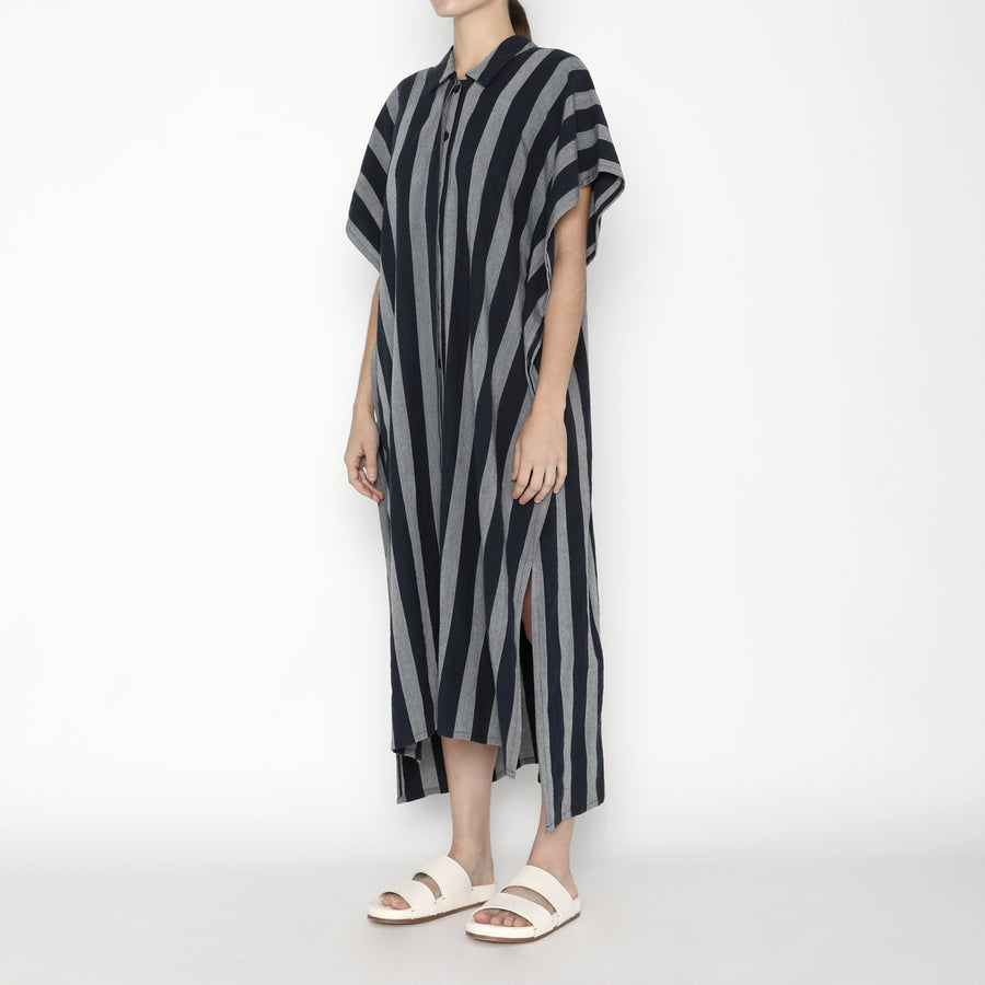 Striped Swing Shirtdress - SS20 - Dark Stripe