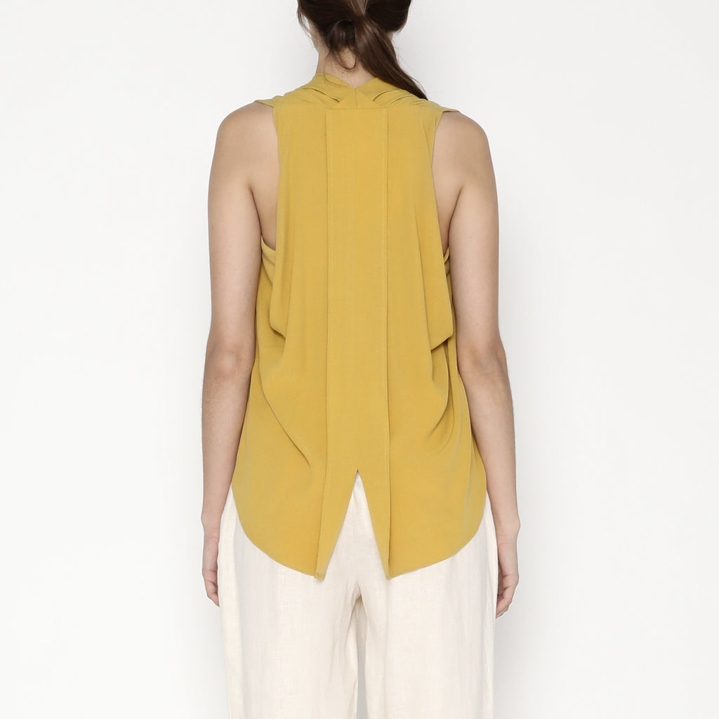 Origami Top - SS20 - Mustard