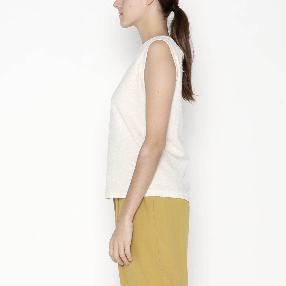 Linen Textured Tank Tee - SS20 - Off-White