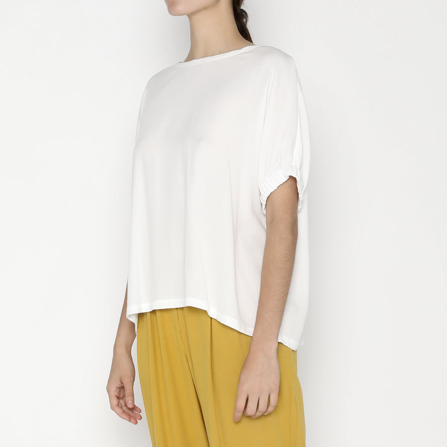 Shirred Cuff Top - SS20 - Off-White