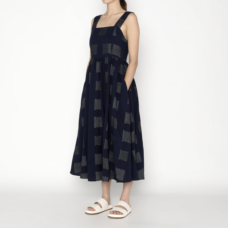 Summer Sundress - Square - SS20 - Navy