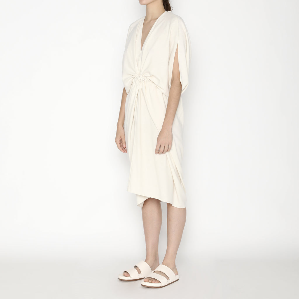 Signature Raw Silk 4-Ways Dress - Off-White