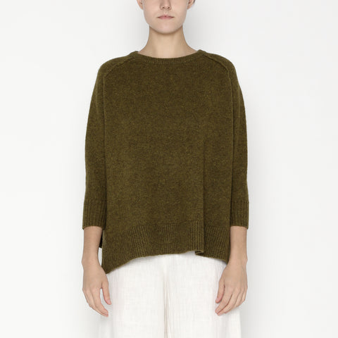 Exposed Seams Sweater - Yak - FW19 - Kelp