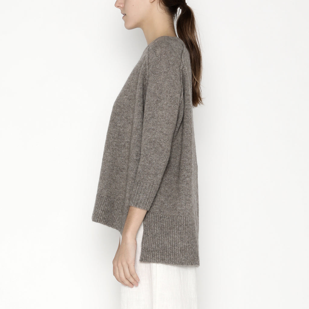 Exposed Seams Sweater - Yak - FW19 - Taupe