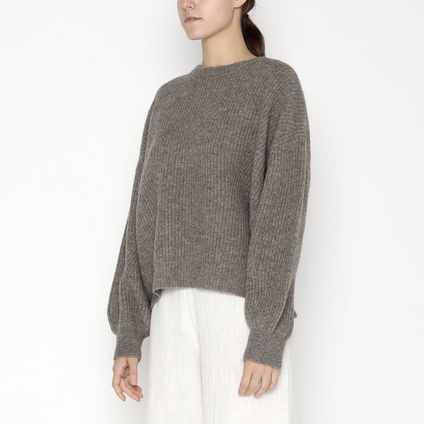 Poet Sleeves Sweater - Yak - FW19 - Taupe