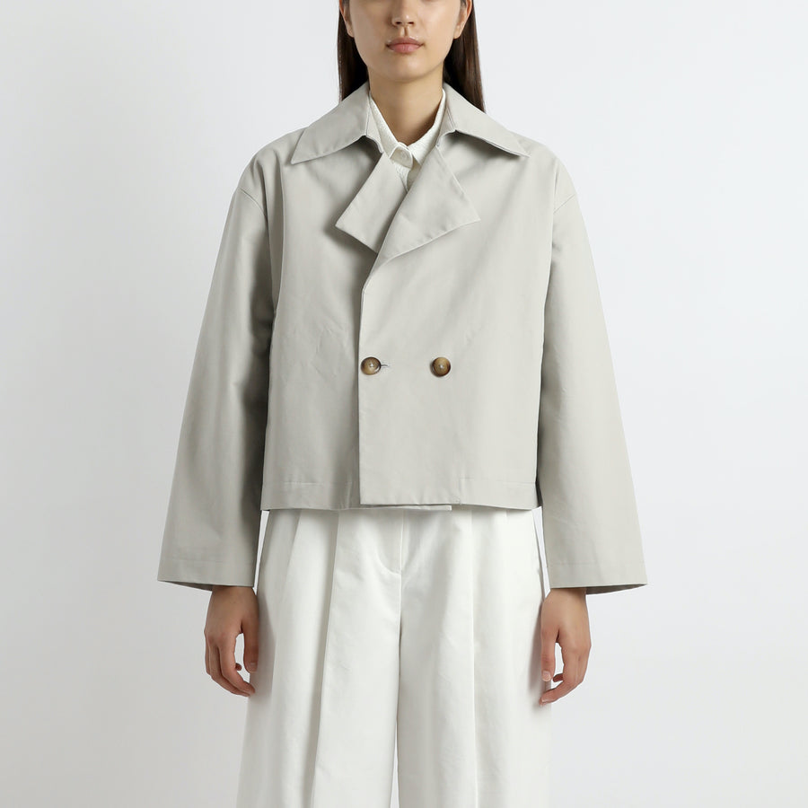 Spring Cropped Peacoat - SS21 - Dusty-White
